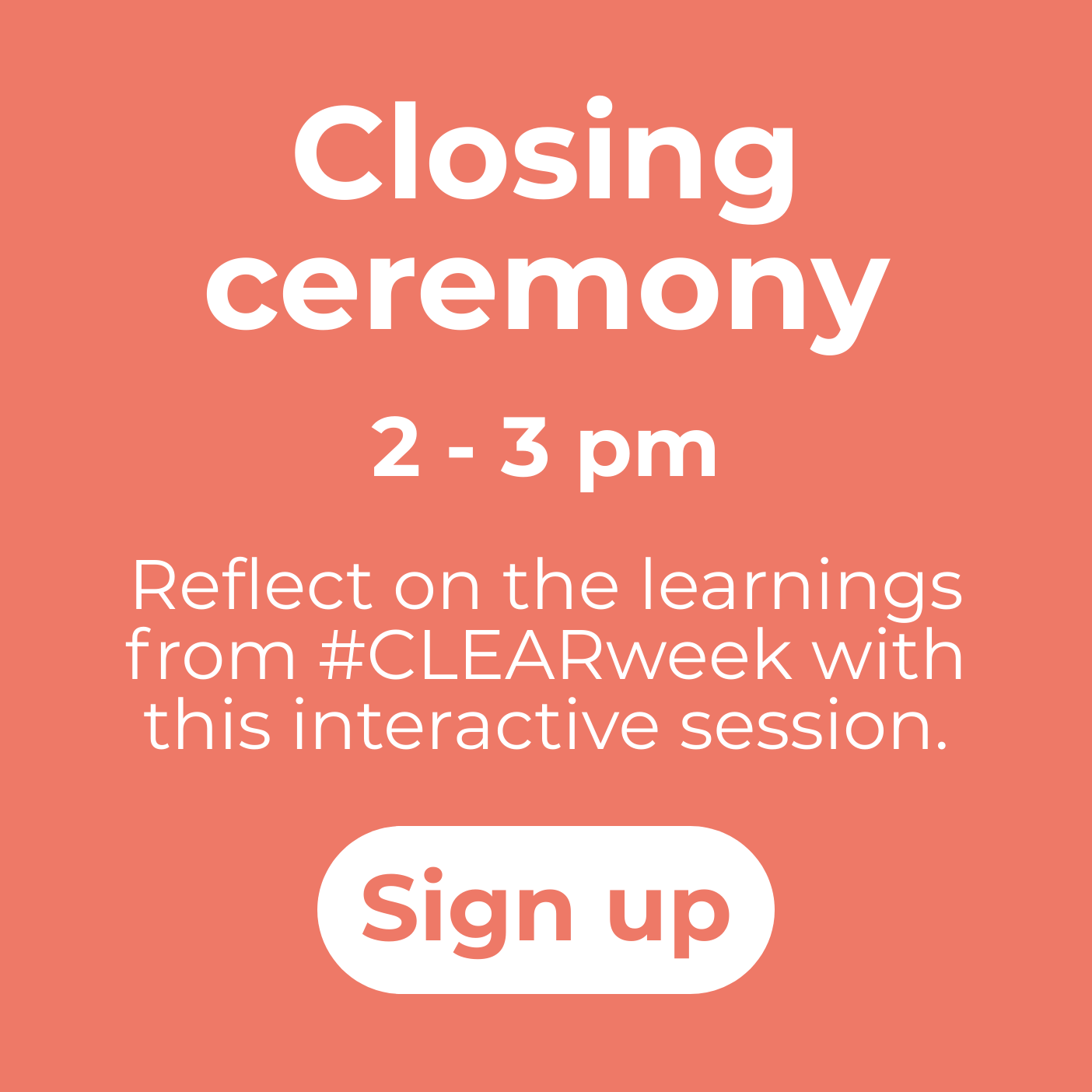 CLEAR closing ceremony